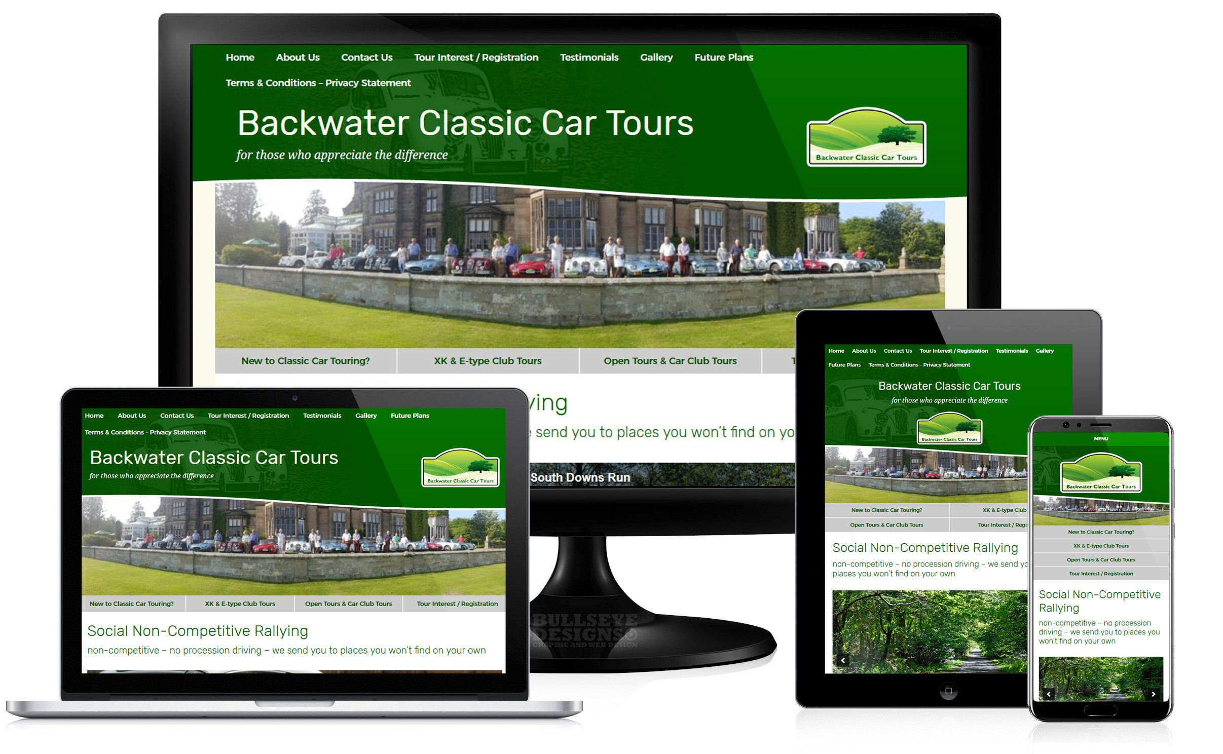 Backwater Classic Car Tours Website group
