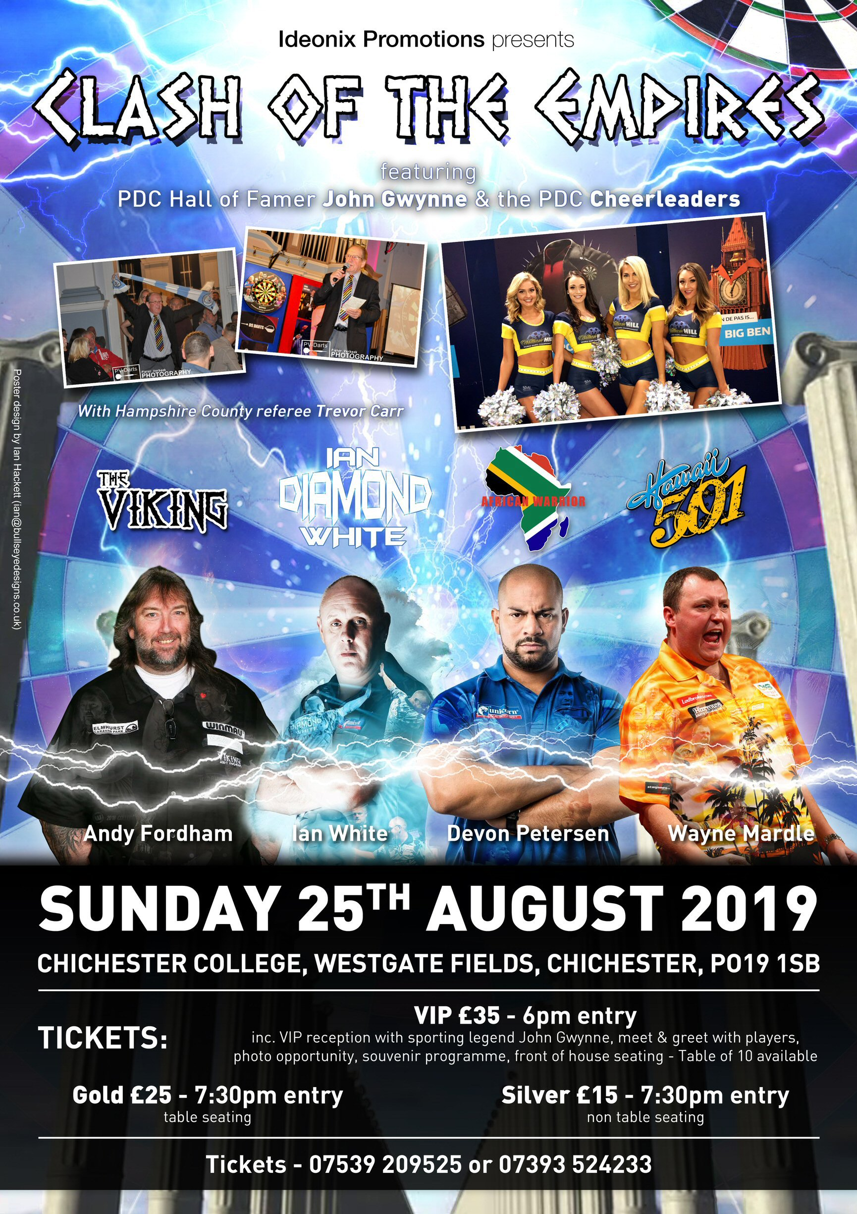 Clash of the Empires Darts Exhibition Poster