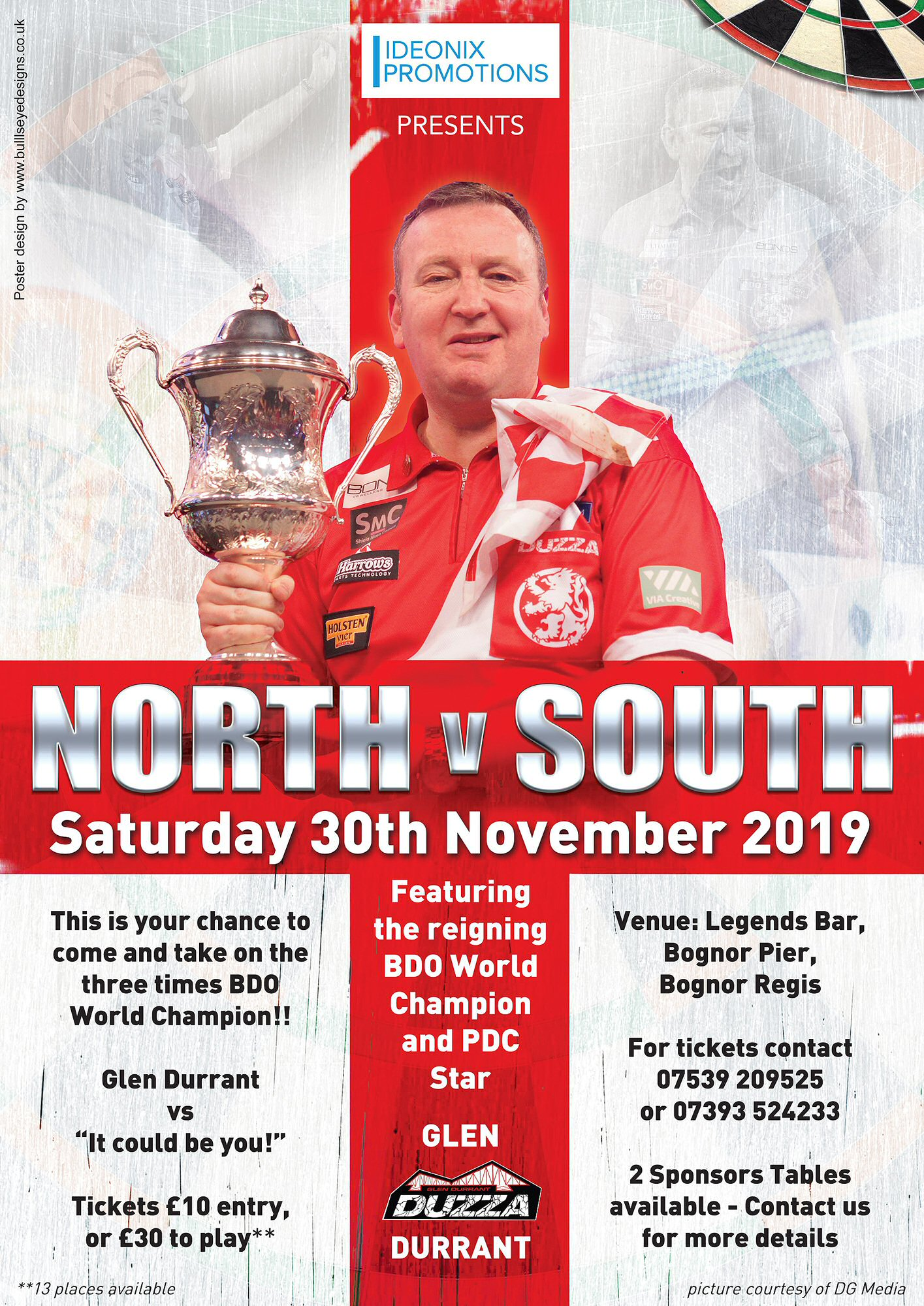 Glen Durrant Darts Exhibition A3 poster
