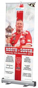 Glen Durrant Darts Exhibition roller banner