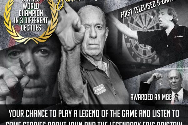 John Lowe Darts Exhibition Poster