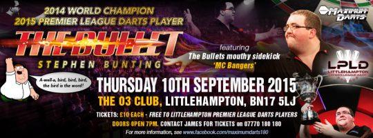 Stephen Bunting Darts Exhibition Facebook Page Header