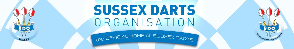 Sussex Darts Organisation website header