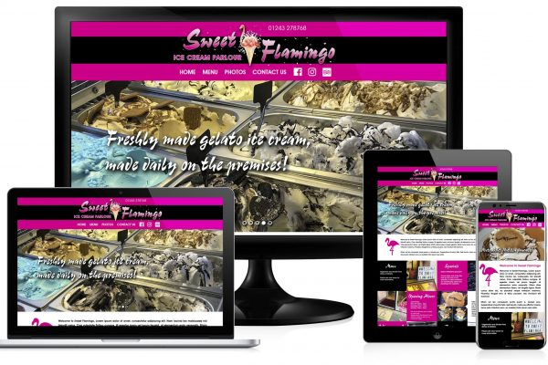 Sweet Flamingo website image block