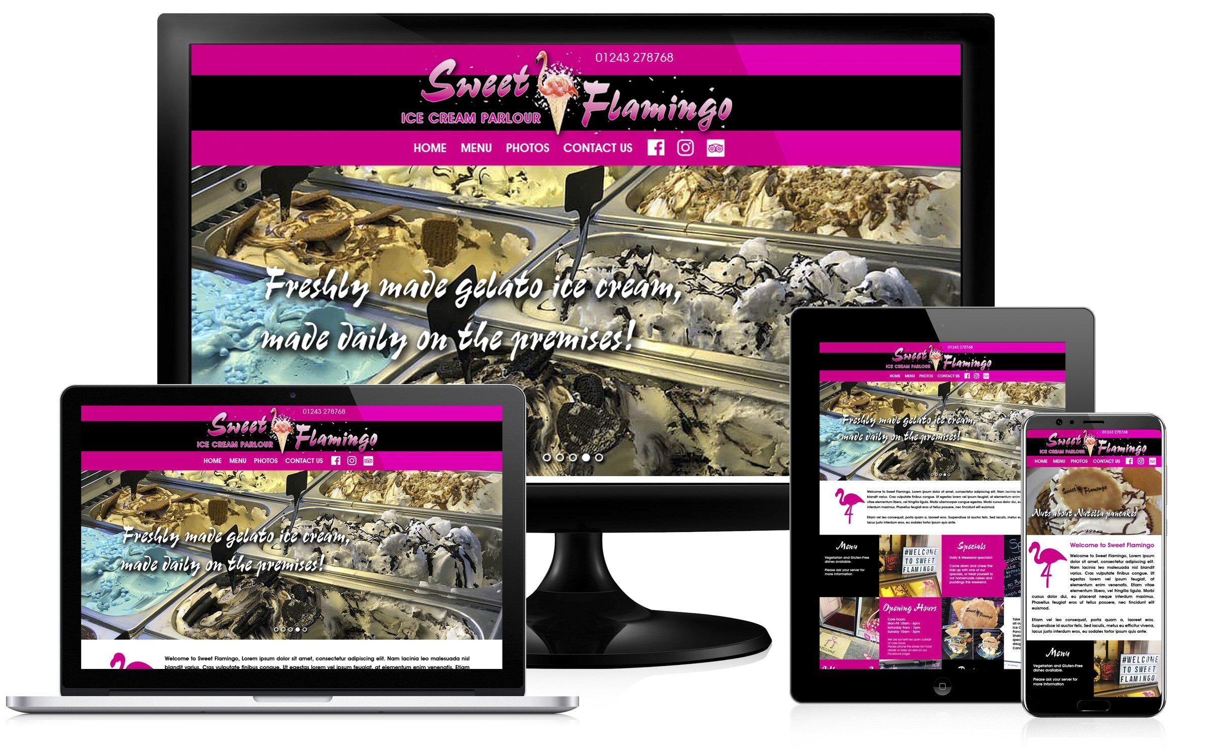Sweet Flamingo website image block