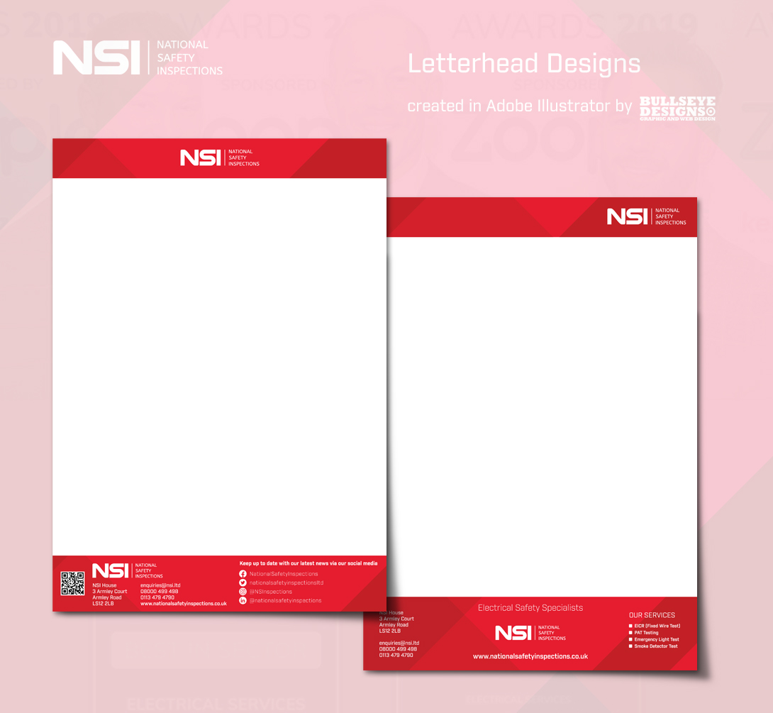 NSI Letterhead designs