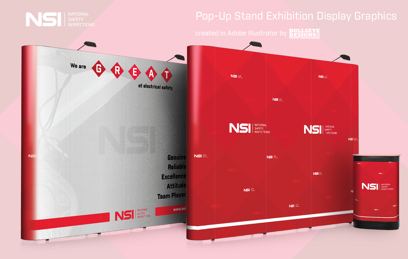 NSI Pop-Up Stand Exhibition Display Graphics